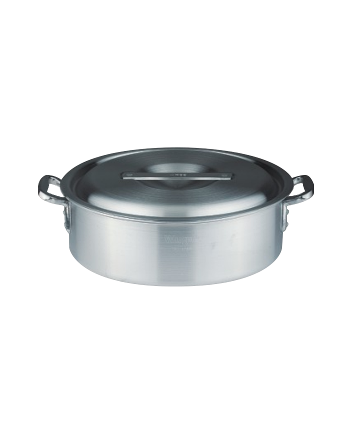 Double bottom aluminum pot low pot series