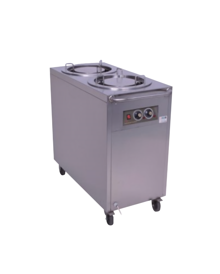 2 Stack Dish Warming Dispenser Trolley